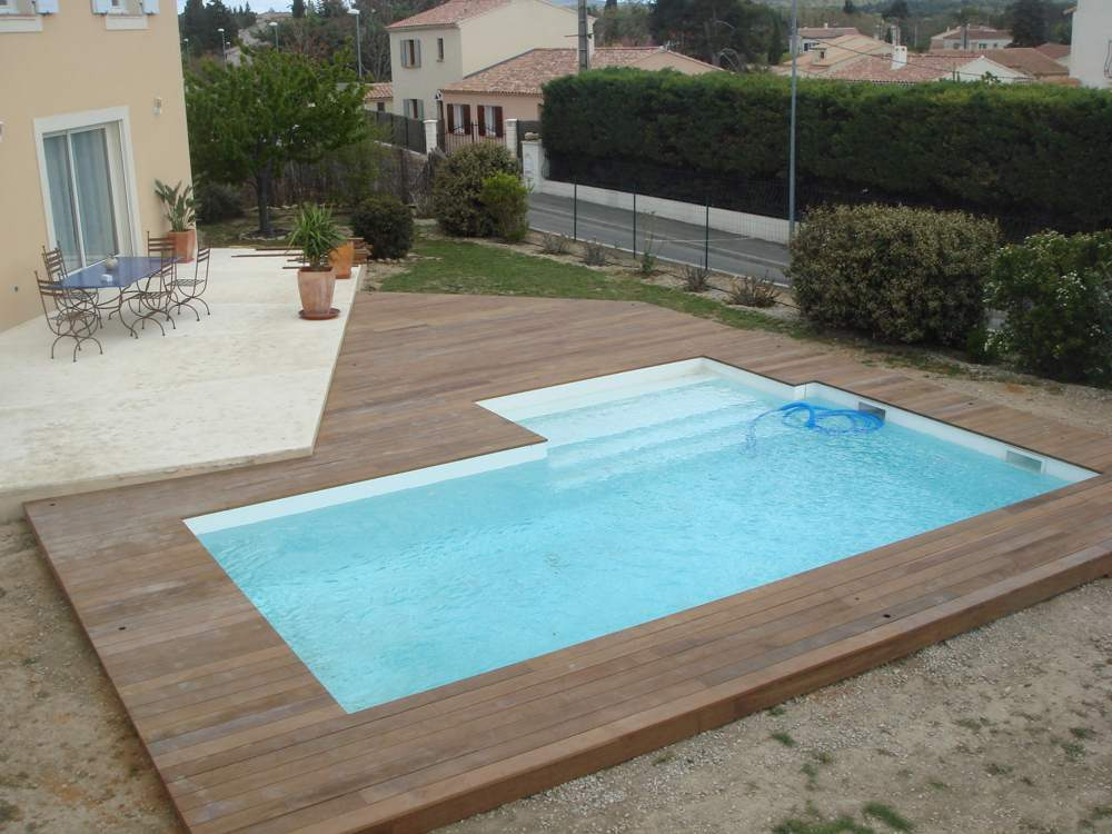 Album for Piscine encastrable bois